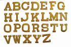 """1 3/4"""" Yellow Letter Embroidery Iron On Applique Patch /1pc"""
