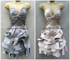 KAREN MILLEN RRP £180 SATIN STATEMENT FRILL LADIES TUTU PARTY EVENING PROM DRESS