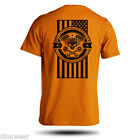 American Motorcycle USA Flag Biker 50/50 Short Sleeve S M L XL image