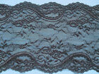 """NEW~Beautiful Black Vintage Inspired  Stretch Lace 6""""/15 cm Lingerie/Costume"""