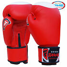 FARABI Official Boxing Gloves Red With White Target 10oz 12oz 14oz 16oz Leather