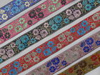 "1 Yd Jacquard Trim 1.50"" wide Woven Border Sew Embroidered Ribbon Lace T903"