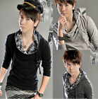 New Men's Fashion Slim Fit Skinny Heap collar Hooded Sweater Jacket CA LO