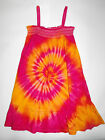 GIRLS CUTE PINK & GOLDEN ORANGE TIE DYE DYED DRESS AVAILABLE IN SIZES  3