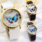 New Lady Girl Fashion Women Candy Faux Leather Quartz Sport Analog Wrist Watch