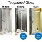 Bathroom Chrome Glass Pivot Bifold Sliding Side Panel Shower Enclosure Door