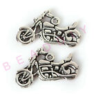 Wholesale lot 40pcs Two-Sided Motorcycle Charm Pendants 24mm 4 Color free ship