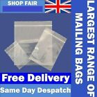 Grip Seal Bags Resealable Mini Grip Poly Plastic Clear Bags **Free Post to EU**