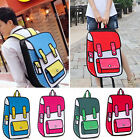 Women's 3D Jump Style 2D Drawing From Cartoon Comic School Backpack Bag bafavi