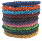 Fair Trade Waxed Braid Weave Cord Thai Buddhist Mens Cotton Wristband Wristwear