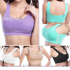 2015 New Sexy Lace Women Lady Sports Bras Seamless Running Bra Yoga Padded Tops