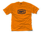 100% MX Motocross Genuine Short Sleeve T-Shirt (Essential Orange) Choose Size