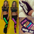 LA New Women Capri YOGA Sport Pants High Waist Cropped Leggings Fitness TrouserU