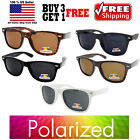 ANTI GLARE POLARIZED LENS BLACK / TORTOISE CLASSIC VINTAGE WAYFARER SUNGLASSES