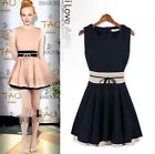 New Women's Sleeveless Chiffon Dress Sexy Slim Party Evening Short Beach Dress