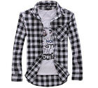 Elegant Men's Comfy Slim Fit Casual & Dress Plaid Check Shirt Korean Style CA LA