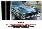 852 1972 FORD MUSTANG - SPRINT DUAL HOOD STRIPES - One Color Special Product