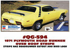 QG-594 1971 PLYMOUTH ROAD RUNNER STROBE STRIPE KIT - RR NAME and BIRDS APPLIED  for sale