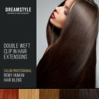 30% off Full Head Double Wefted Clip in Blend Remy Human Hair Extensions