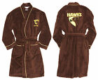 Boys AFL Licensed Fleece Dressing Gown Robe HAWTHORN HAWKS size 8 12 16