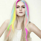 "New 24"" Colored Colorful Clip On In Hair Extension Free tracking"
