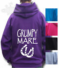 HORSE RIDING HOODIE PONY Equestrian KIDS & ADULT`S ALL SIZE`S GRUMPY MARE BP