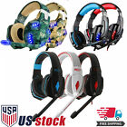 headphones with usb - Gaming Headset Surround Stereo Headband Headphone USB 3.5mm LED with Mic for PC
