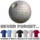 Star Wars Empire Sith Death Star - Never Forget T-Shirt in 7 Colors M/W/Y Sizes
