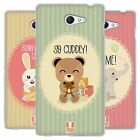 HEAD CASE LITTLE ANIMALS SILICONE GEL CASE FOR SONY XPERIA M2