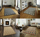 Fusion Geometric Design Hand Tufted Soft Wool & Viscose Rug Floor Mat Home Decor