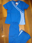 #3026 NWT Princess Cut Stylish Medical Nursing Uniform Scrubs Set Royal / Ciel