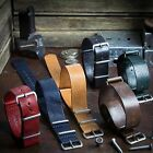 ZULUDIVER NATO Beautiful Natural Genuine Leather Watch Strap 20mm 22mm