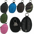 Hand Grenade Style Zipper Key Pouch Holder Coin Wallet Soft Case