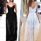 2015NEW Summer Women's Sexy Lace Evening Party Maxi Dress Camisole Beach Dresses