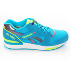 Reebok GL 6000 Trainers Shoes Neon Blue Trainer Classic M43275