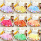 Infinity Baby Kids Girl Toddler Princess Pageant Tutu Lace Bow Flower Dress prom
