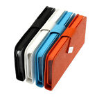 For iPhone 5C Wooden Textured Design Folding Wallet Folio Case Cover Multi-Color