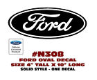 "N308 FORD OVAL DECAL - 4"" Tall x 10"" Long - SOLID STYLE - LICENSED"
