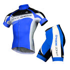 Sobike Mens Cycling Suits Short Sleeve Cycling Jersey with Shorts - Honor Blue