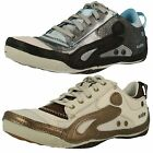 LADIES CUSHE  LEATHER/TEXTILE LACE UP TRAINERS (2 COLOURS) STYLE: BOUTIQUE SNEAK