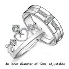 Hot Sale 925 Silver Prince & Princess Imperial Crown Adjustable Rings Gift