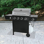 Backyard Grill 4 Burner Gas Grill w side burner stainless propane barbecue NEW