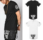 Extended Long CEASE DESIST 20 Mesh Skirt 2 Zipper High Street T Shirt Tee Jersey