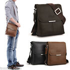 Vintage Men Flap Crossbody Messenger Bag Leather Business Shoulder bag Briefcase