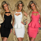 Hot Summer Women Sexy Topless Peplum Dress Bodycon Evening Wiggle Pencil Dress