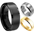 Chic New Hot Stainless Steel Ring Band Titanium Silver Black Gold Men Wedding