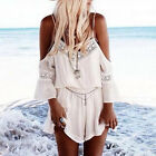 Women's Rompers Lace Sling Floral Backless Cocktail Casual Beach Pant Dresses