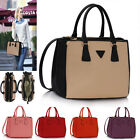 Ladies Women's Designer Leather Style Celebrity Tote Bag Fashion Bags Handbags