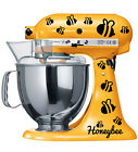 HONEY BEE KITCHENAID Mixer DECALS DIY CRAFTS STICKER SHEET 55 PCS HONEYBEE