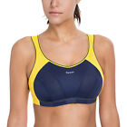 Women's High Impact Wire Free Non Padded Racerback Maximum Sports Bra
